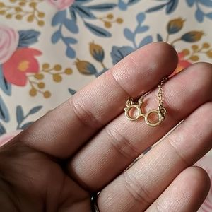 Nwot gold harry potter dainty charm necklace